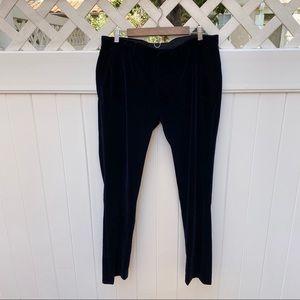 Topman | Velvet Navy Blue Pants